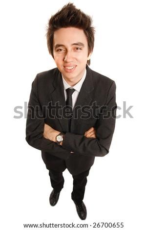 Businessman isolated on white background - stock photo