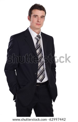 businessman isolated on white. More images of this models you can find in my portfolio - stock photo