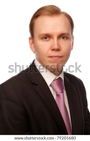 Businessman. Isolated over white. - stock photo