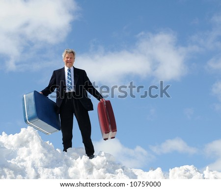 Businessman, just arrived - stock photo