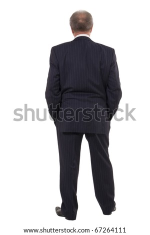 businessman looking forward  isolated on white background