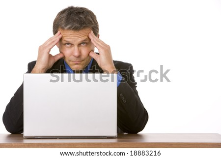 Businessman Looking Stressed Out - stock photo