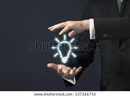 Businessman magical touch concept
