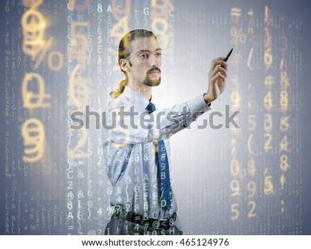 Businessman of digital age in concept