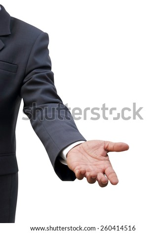businessman offering handshake - stock photo