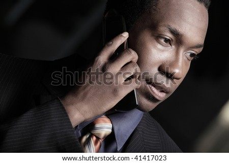 Businessman on a cellphone