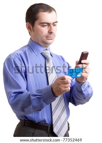 Businessman on a white background. - stock photo