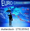 Businessman on Euro Crisis - stock photo