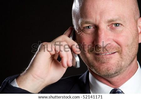 Businessman on Phone - stock photo