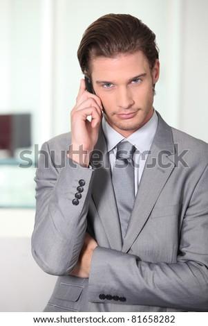 businessman on the phone - stock photo