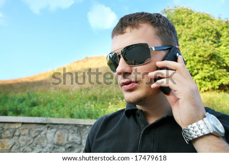 businessman on vacation - stock photo