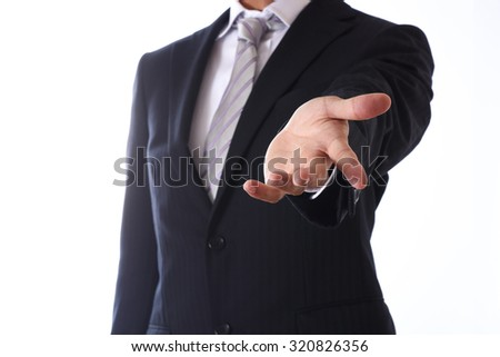 businessman on white background