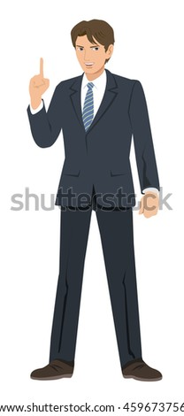 Businessman - point - stock photo