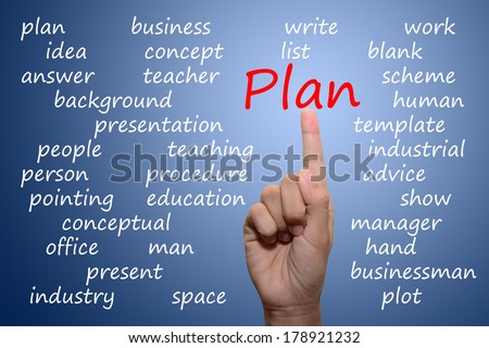 businessman pointing plan concept