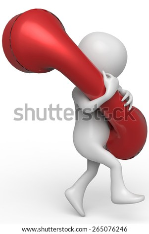 businessman red telephone 2 - stock photo