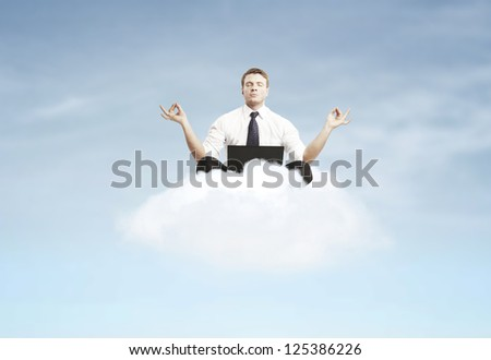 businessman relax - stock photo