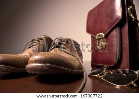Businessman's accessories - stock photo