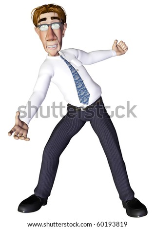 Businessman show - stock photo