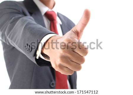 businessman show thumb up - stock photo