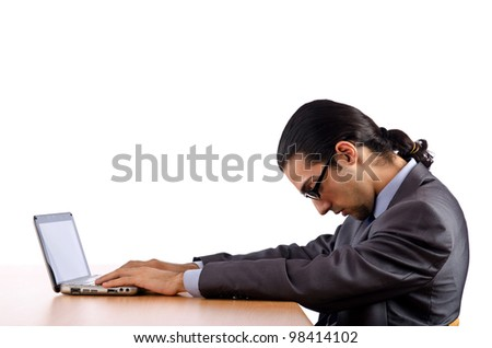 Businessman sitting at the desk