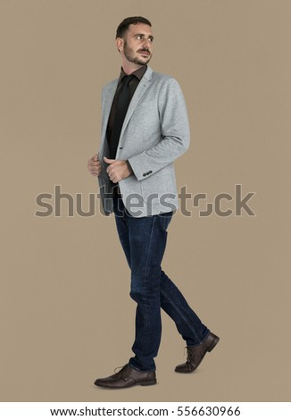 Businessman Smiling Happiness Portrait Concept