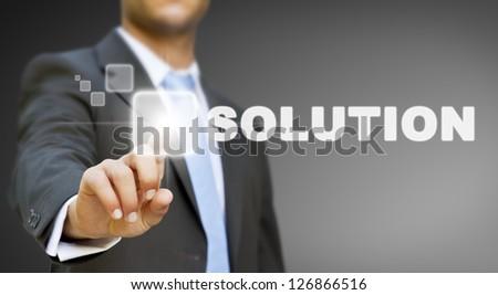 Businessman solution concept - stock photo