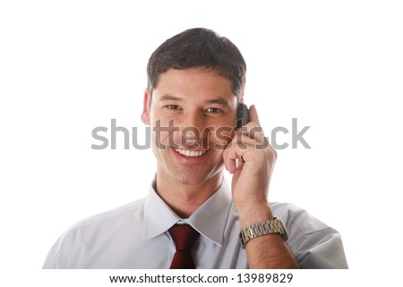businessman speaking on the mobile phone