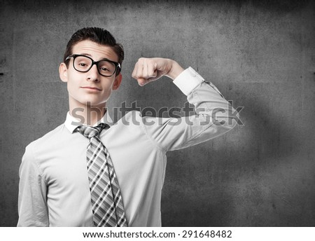 businessman strong gesture - stock photo