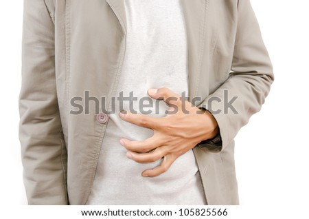 Businessman Suffering From Abdominal Pain. - stock photo