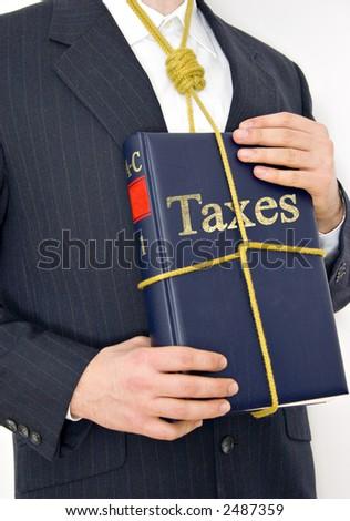 Businessman - Taxes - stock photo