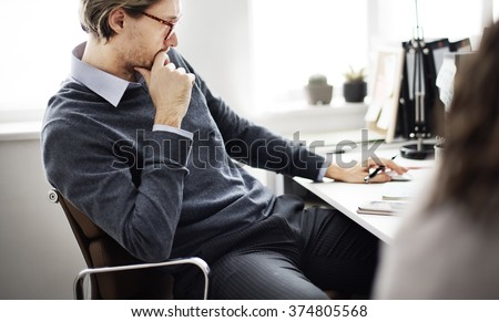Businessman Thinking Ideas Strategy Working Concept