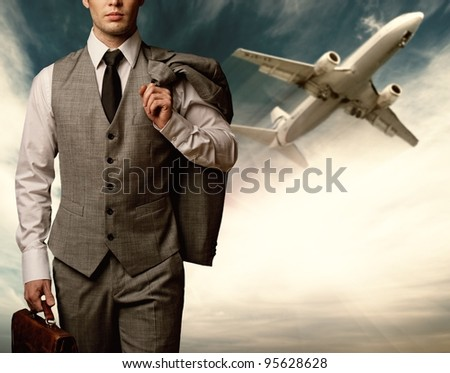Businessman traveling concept. - stock photo