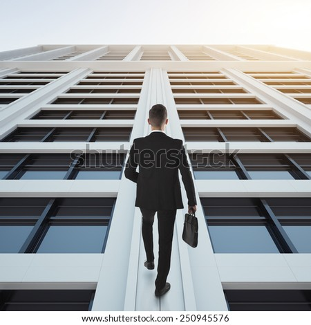 Businessman up to success concept - stock photo