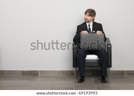 Businessman waiting for business meeting. - stock photo