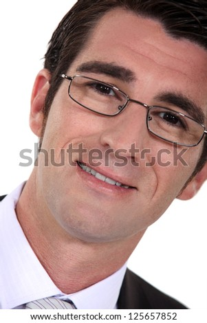 Businessman wearing glasses - stock photo