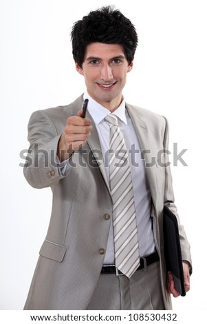 Businessman with a can-do attitude - stock photo