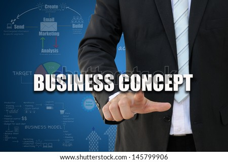 Businessman with business concept