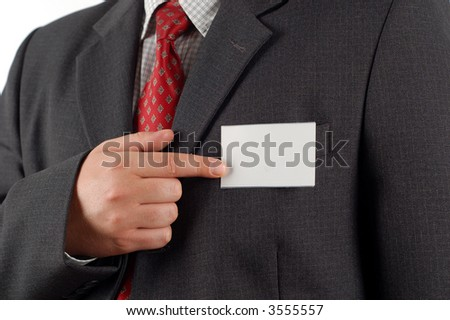 businessman with card #7 - stock photo