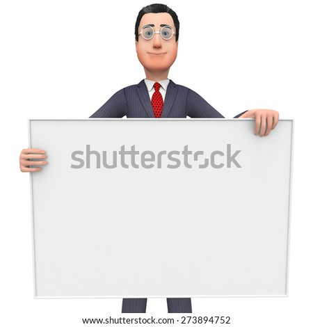 Businessman With Copyscpace Indicating Empty Space And Professional