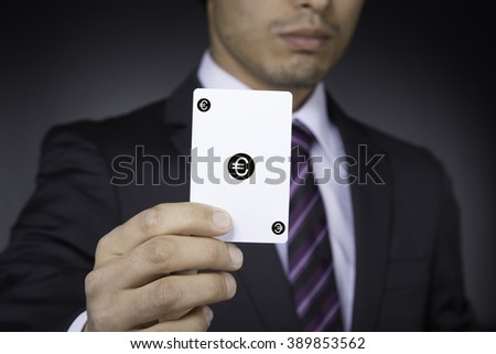 businessman with euro card