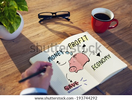 Businessman with Financial and Saving Issue  - stock photo