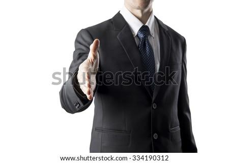 Businessman With Hand Shake Pose - stock photo