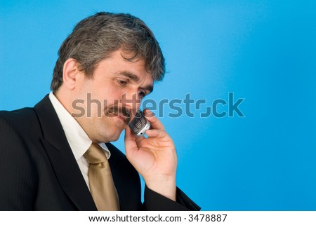 businessman with mobile phone - stock photo