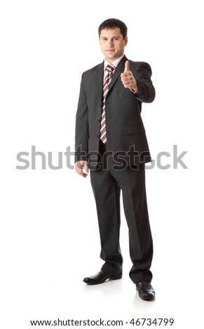 Businessman with thumbs-up