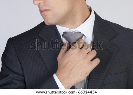 Businessman with tie - stock photo