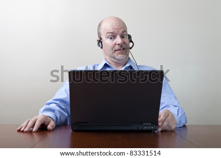 Businessman with WTF expression - stock photo