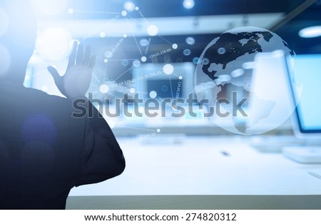 businessman working with modern technology as concept