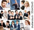 Businessmen and business women - stock photo