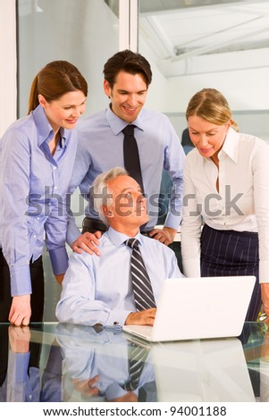 businessmen and businesswomen during a working meeting - stock photo