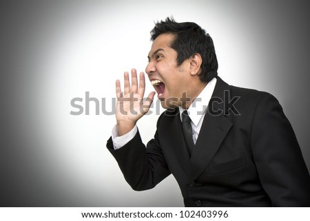 Businessmen are very very angry - stock photo